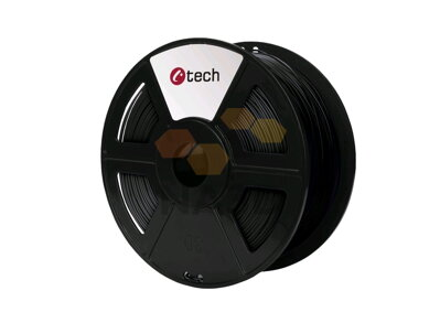 C-TECH PET G czerni 1,75 mm, 1 kg (C-TECH PET G czerni 1,75 mm 1 kg)